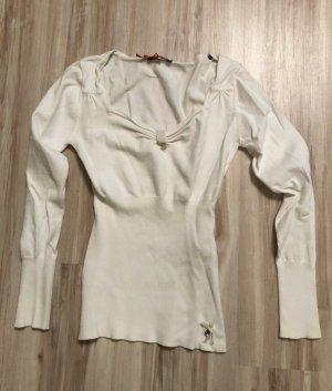 Morgan Jersey de cuello redondo blanco