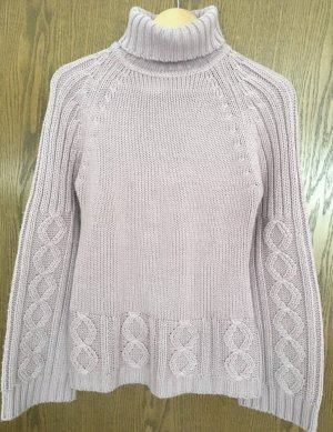 Morgan Coarse Knitted Sweater mauve-dusky pink