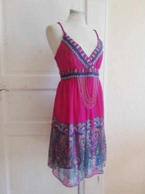 Morgan Sommerkleid Kleid kurz Gr. XS S  34 36  pink