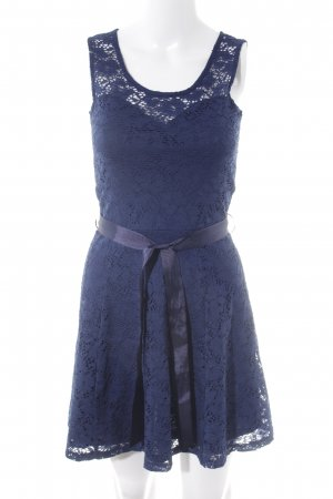 Morgan Spitzenkleid dunkelblau Blumenmuster Party-Look
