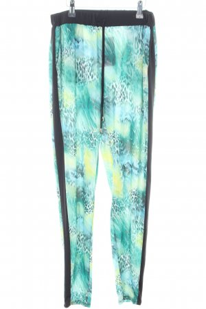 Morgan Stretch Trousers abstract pattern street-fashion look