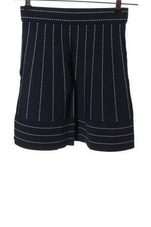 Morgan Spódnica ze stretchu czarny-biały W stylu casual
