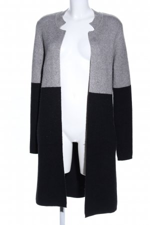 Morgan Strick Cardigan hellgrau-schwarz meliert Casual-Look