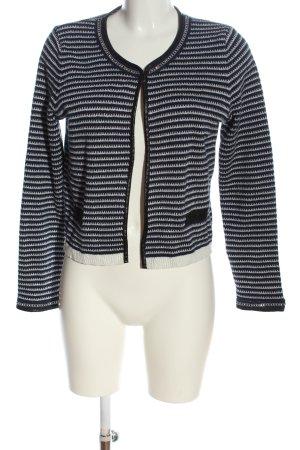 Morgan Cardigan in maglia blu-bianco motivo a righe elegante