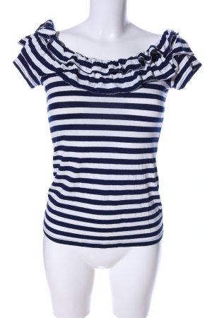 Morgan T-Shirt schwarz-weiß Streifenmuster Casual-Look