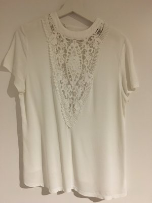 Morgan Crochet Shirt white
