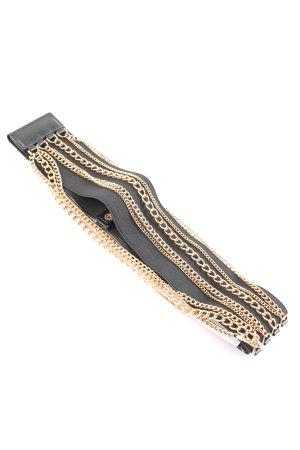 Morgan Cinturón pélvico negro-color oro look casual