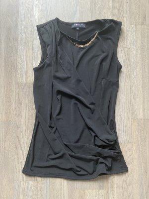 Morgan Basic topje zwart-goud