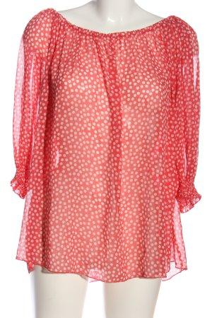 Morgan Transparenz-Bluse pink-creme Punktemuster Casual-Look