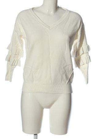 Morgan Maglione con scollo a V bianco stile casual