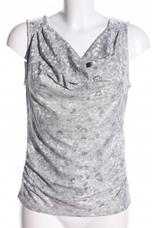 Morgan Cowl-Neck Top light grey-white abstract pattern casual look