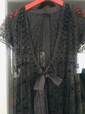 Robe de nuit gris foncé-argenté
