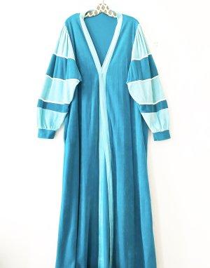 Vintage Cappotto lungo fino a terra blu cadetto-azzurro