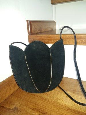 Minibolso negro-color oro Cuero