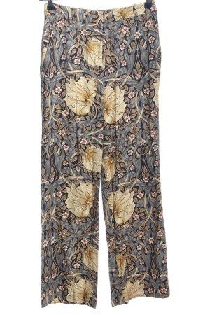 Morris & Co x H&M Baggy broek lichtgrijs-room abstract patroon