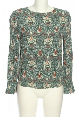 Morris & Co x H&M Langarm-Bluse Allover-Druck Casual-Look