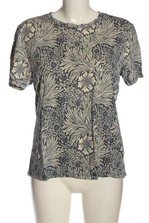 Morris & Co x H&M T-shirt imprimé crème-bleu motif abstrait