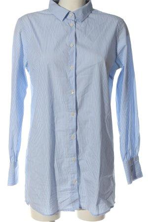Mos Mosh Robe chemisier bleu-blanc imprimé allover style d'affaires