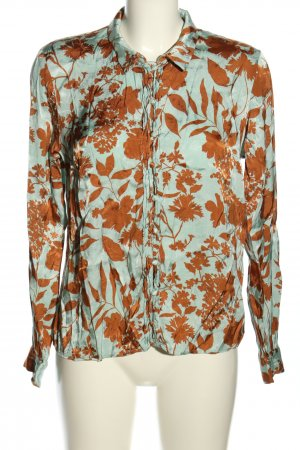 Mos Mosh Blouse brillante vert-orange clair imprimé allover style d'affaires