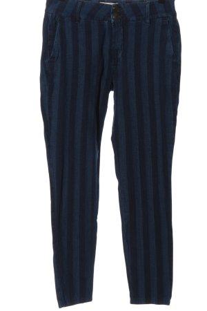 Mos Mosh Slim Jeans blau Streifenmuster Casual-Look