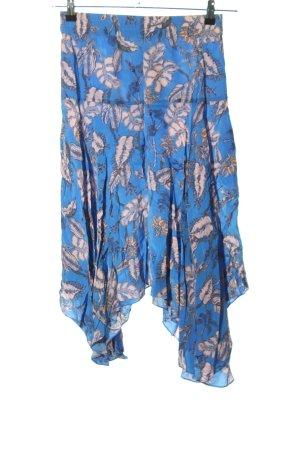 Mos Mosh High Waist Rock blau-nude Allover-Druck Casual-Look