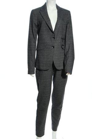 Mos Mosh Trouser Suit black-light grey check pattern business style
