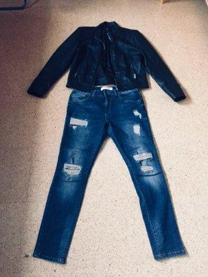 Mos Mosh Jeans boyfriend bleu foncé