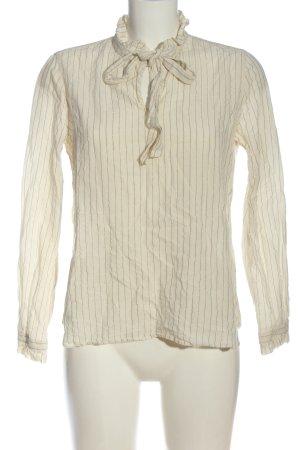 Mos Mosh Langarm-Bluse wollweiß-bronzefarben Streifenmuster Casual-Look