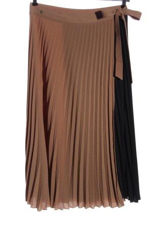 Mos Mosh Pleated Skirt brown-black casual look