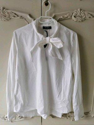 Mos Mosh Schluppenbluse mit Schleife in weiß // Neu mit Etikett - Zara Mango Nakd H&m