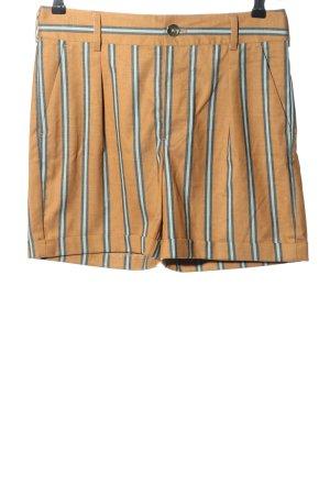 Mos Mosh Shorts hellorange-blau Streifenmuster Casual-Look