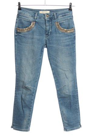 Mos Mosh Skinny Jeans blau Casual-Look
