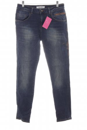 Mos Mosh Slim Jeans dunkelblau Casual-Look