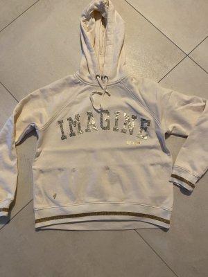MOS mosh Sweatshirt Pullover Gr XS Creme akt Kollektion