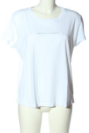 Mos Mosh T-Shirt weiß Schriftzug gedruckt Casual-Look
