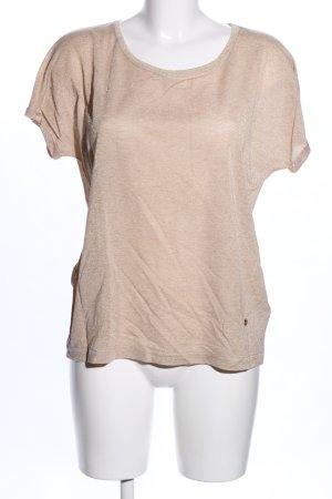 Mos Mosh Camisa de cuello barco crema moteado look casual