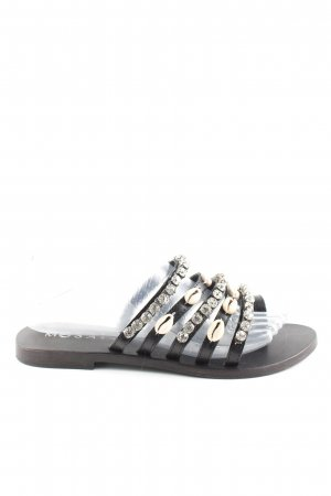 Mosaic Riemchen-Sandalen schwarz-wollweiß Casual-Look