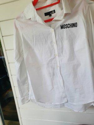 Moschino Koszulowa bluzka biały-czarny