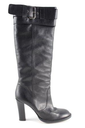 Moschino Absatz Stiefel schwarz Casual-Look