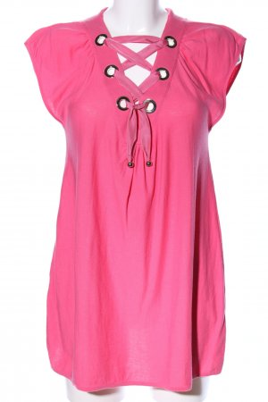 Moschino ärmellose Bluse pink Party-Look