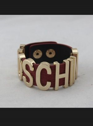 Bracelet gold-colored-brick red