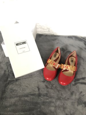 Moschino Ballerines Mary Jane rouge-rouge brique