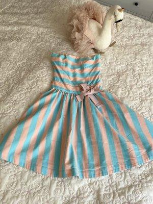 Love Moschino Abito a fascia rosa pallido-azzurro Cotone