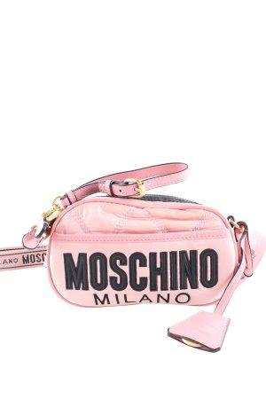 Moschino Bauchtasche pink-schwarz Schriftzug gedruckt Casual-Look