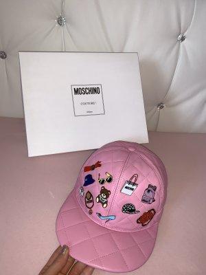 Moschino Kapelusz przeciwsłoneczny różowy