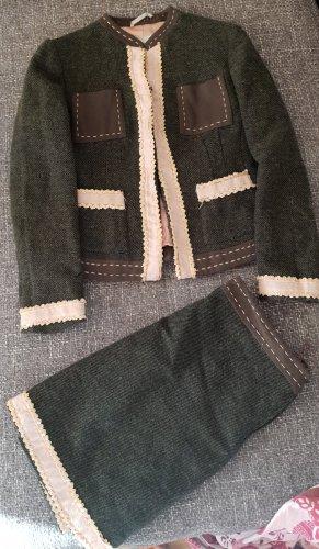 Moschino Blazer de lana ocre