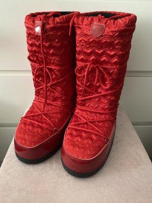 Love Moschino Bottes de neige rouge