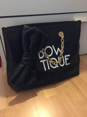 Moschino Boutique Tasche Shopper schwarz /weiß Leder Ketten-Henkel neuwertig