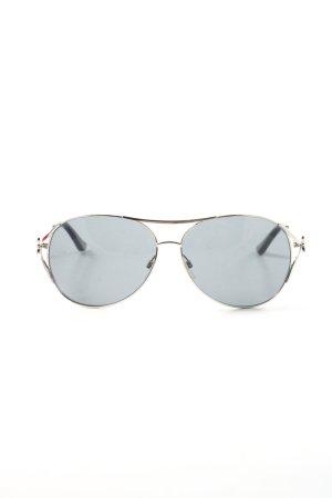 Moschino Lunettes gris clair-argenté style décontracté