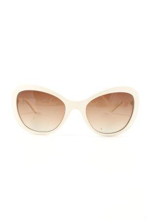 Moschino Okulary w kolorze białej wełny-kremowy W stylu casual